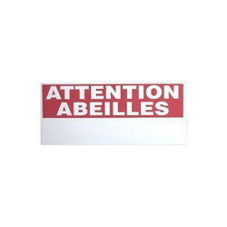 Panneau attention abeilles 400 x 170 mm