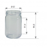 Pot en verre cylindrique 250 g 212 ml TO 58