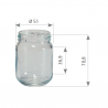 Pot en verre cylindrique 125 g 100 ml TO48